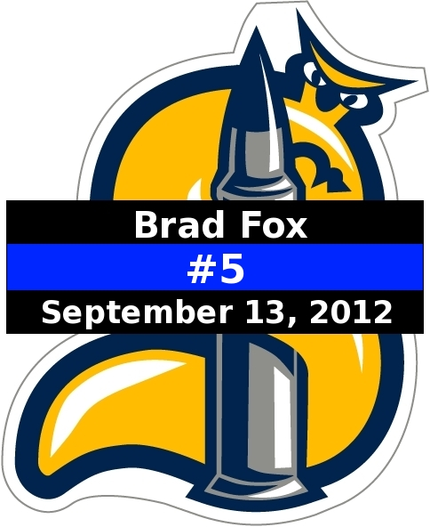Brad Fox Thin Blue Line Logo